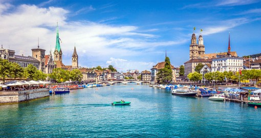 Begin your Switzerland Vacation with a stopover in Zurich, the country's largest city