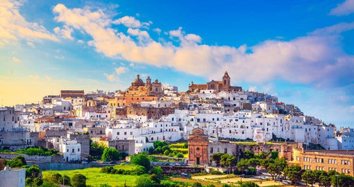 The whitewashed houses of Ostuni give the city a dazzling effect