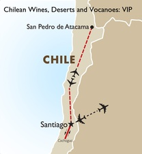 Chilean Wines, Deserts and Volcanoes VIP