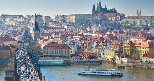 Begin your Czech Republic tour with a visit to the Charles Bridge & Prague Castle
