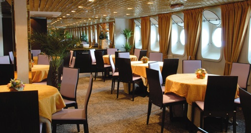 The Restaurant on the MS La Belle de Adriatique.