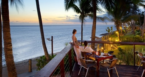 Enjoy a sundowner dinner on your trip to Fiji