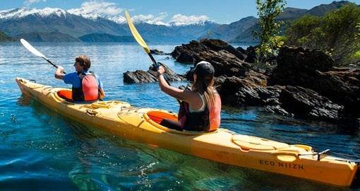 Make the Tiki Lake Wanaka kayak tour part of your New Zealand vacation