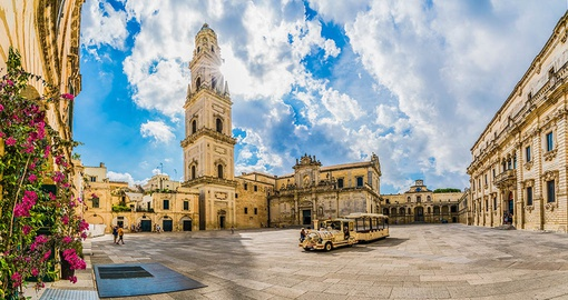 Piazza del Duomo and Santa Maria Cathedral in Lecce