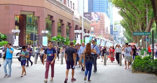 Walk along Orchard street during your Singapore vacation.