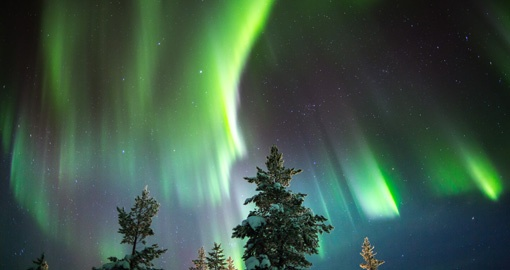 Winter in Scandinavia often brings Aurora Borealis