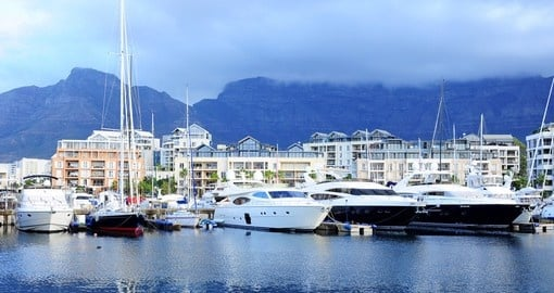 Famous Victoria and Alfred waterfront is a popular visit on all Cape Town tours.