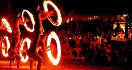 Experience high class entertainment and catch a night show during your Cook Island Vacation.
