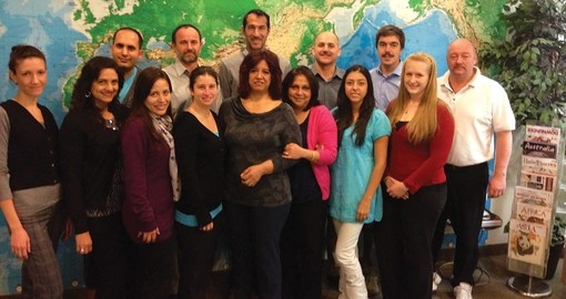 Some of our head office team of Latin America Experts