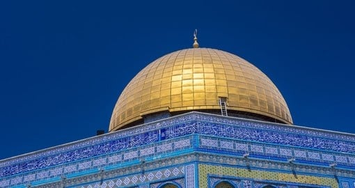 Dome of the rock in the old city of Jerusalem - A must inclusion on your Israel vacation.