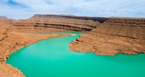 See the turquoise water of the Ziz River during your Morocco Vacation package
