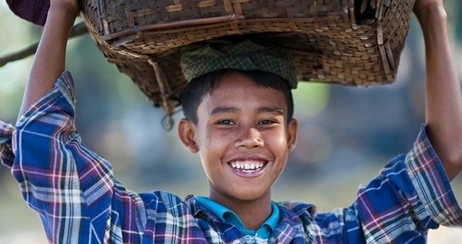 Smiles of a young Burmese boy