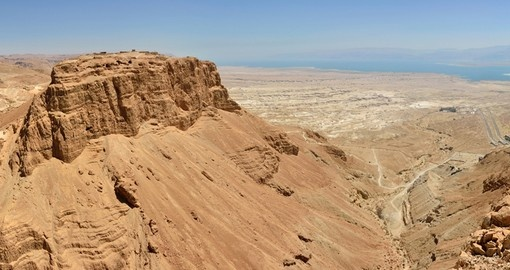 Masada summit and Dead Sea