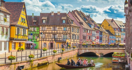 "Colmar, known as ""The Small Venice"" is on the Alsace Wine Route"