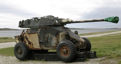 Tank from the Falklands War
