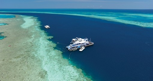 The pontoon out on the reef