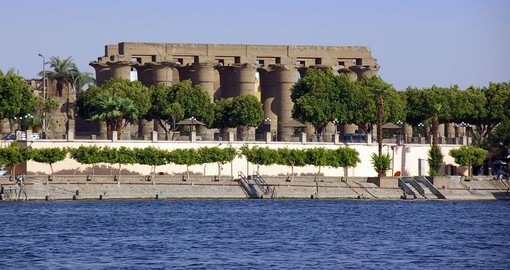Enjoy beautiful view of the Luxor city while you are cruising through the Nile.