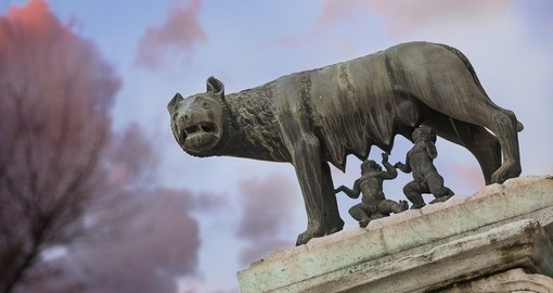 The famous Capitoline Wolf in Rome