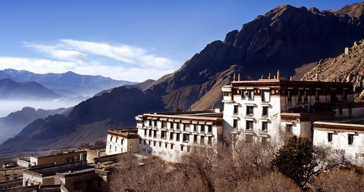 Old Buildings in the Buddhist Drepung Monastery