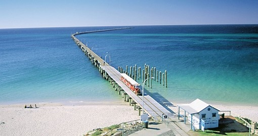 Visit the iconic Busselton Jetty during your Australia vacation.