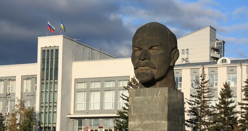 Monument to Vladimir Lenin in Ulan-Ude
