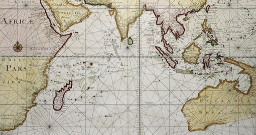 Indian Ocean Old Map 1705