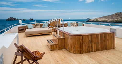 Sink into a Jacuzzi on your trip to the galapagos