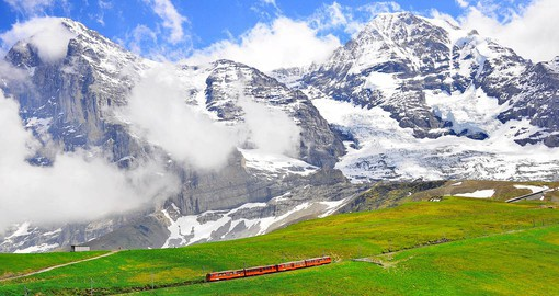 Jungfraujoch, a peak in the Bernese Alps, is home to Europe's highest railway station