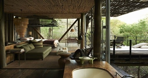 Stay at the Singita Sweni Lodge during your South Africa trip/