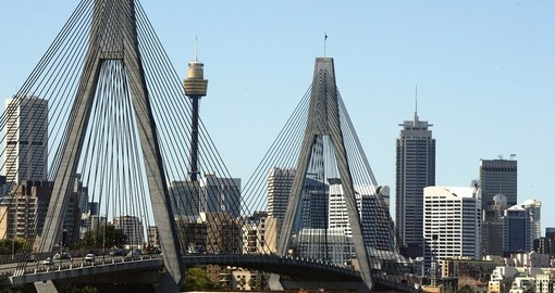 Experience the ANZAC Bridge in Sydney during your next Australia vacations.