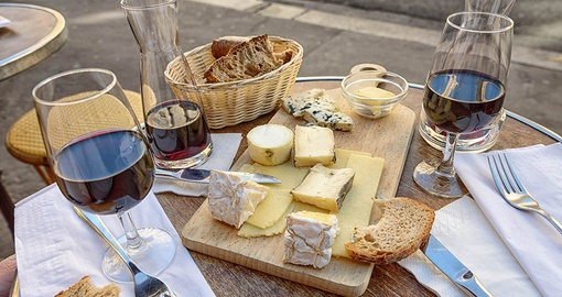 France is famous for its wine and cheese
