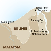 Brunei Country Map