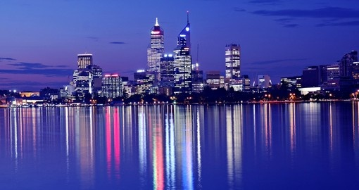 Must see view of night Skyline in Perth during your next trip to Australia.