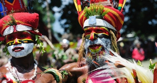 Experience tribal festival's in Papua New Guinea