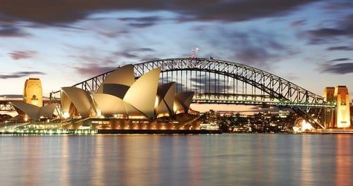 Australia's Sydney Opera House and Harbour Bridge