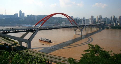 Caiyuanba Yangtze River bridge in Chongqing is a photo opportunity while on Yangtze River cruises