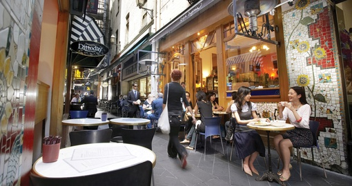 Enjoy the lanes and arcades of Melbourne