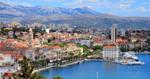 Picturesque Split with it's beautiful harbour is the next stop on your Croatia vacation package