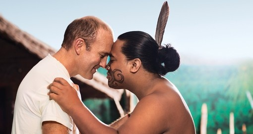 You will be experience traditional Maori Hongi (or greeting) on your next New Zealand tours.