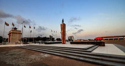 Accra, Ghana's capital and largest city sits on the Gulf of Guinea
