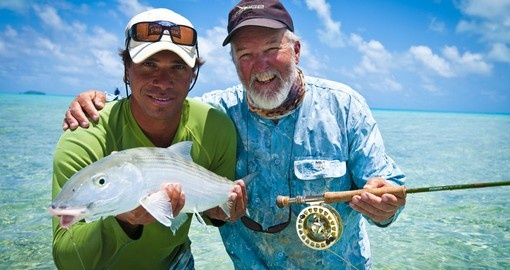 Spend a day fishing in the South Pacific waters during your Trips to Cook Islands