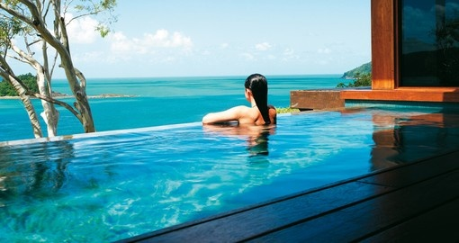 Relax in the Windward Pavilion pool on your Australia vacation