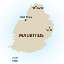 Mauritius Country Map