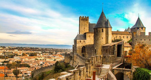With 3 kilometres of defensive ramparts, Carcassonne is one of the largest medieval walled cities in Europe