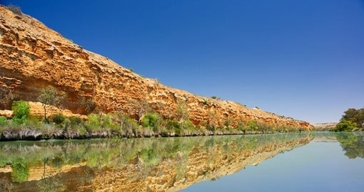 Magical view of Cliffs along the Murray River during your next trip to Australia.