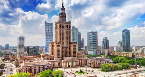 Palace of Culture and Science building in Warsaw