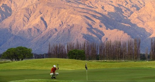 Enjoy at day of golf at La Estancia de Cafayate Golf Course during your Argentina Vacation