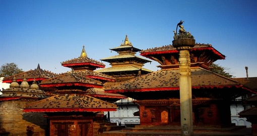 Durbar Square in Kathmandu is a great starting point for a vacation in Nepal