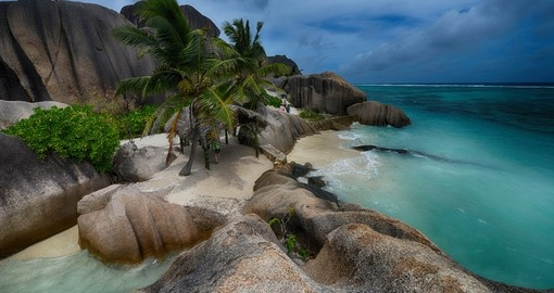 Anse Source is a popular beach found on La Digue, Seychelles