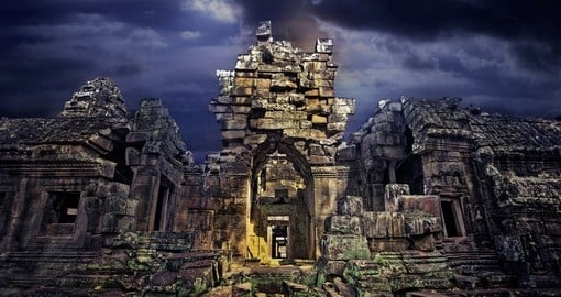 See ancient  Angkor Wat on your Cambodia Vacation